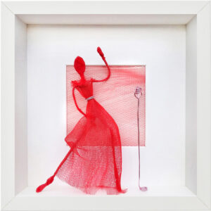 Lady in Red I, Hanne Schauer, 2021