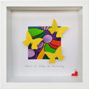 Love is like a butterfly, Jutta Achenbach, 2020